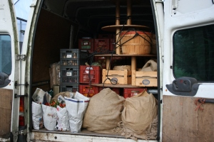 The van is all loaded up with autumnal goodies for the London show.