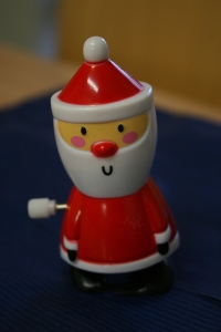 This mini Santa dropped out of my Christmas Cracker.