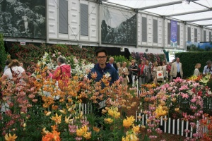The Great Pavilion was filled with all sorts of flowers at peak perfection.